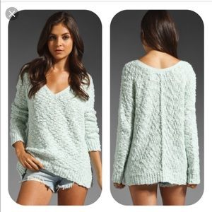 Free People Songbird sweater mint medium